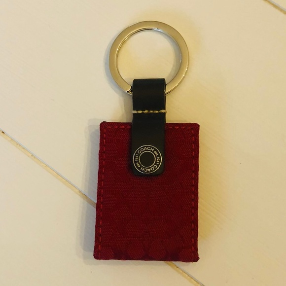 NWOT Coach red c's keychain picture fob gift